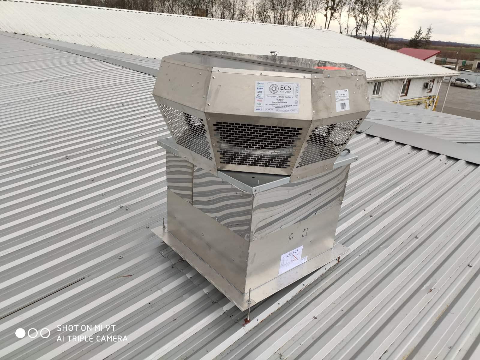 Даховий вентилятор нержавіюча сталь